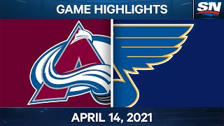 NHL Game Highlights | Avalanche vs. Blues - Apr. 14, 2021