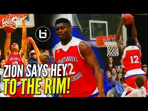 Zion Williamson Goes OFF THE BACKBOARD in Rivalry Game!