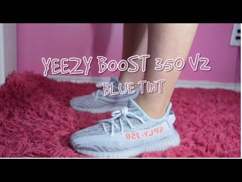 HYPEBAE SERIES: YEEZY BOOST 350 V2 BLUE TINT : WOMENS SIZING + REVIEW , & ON FOOT