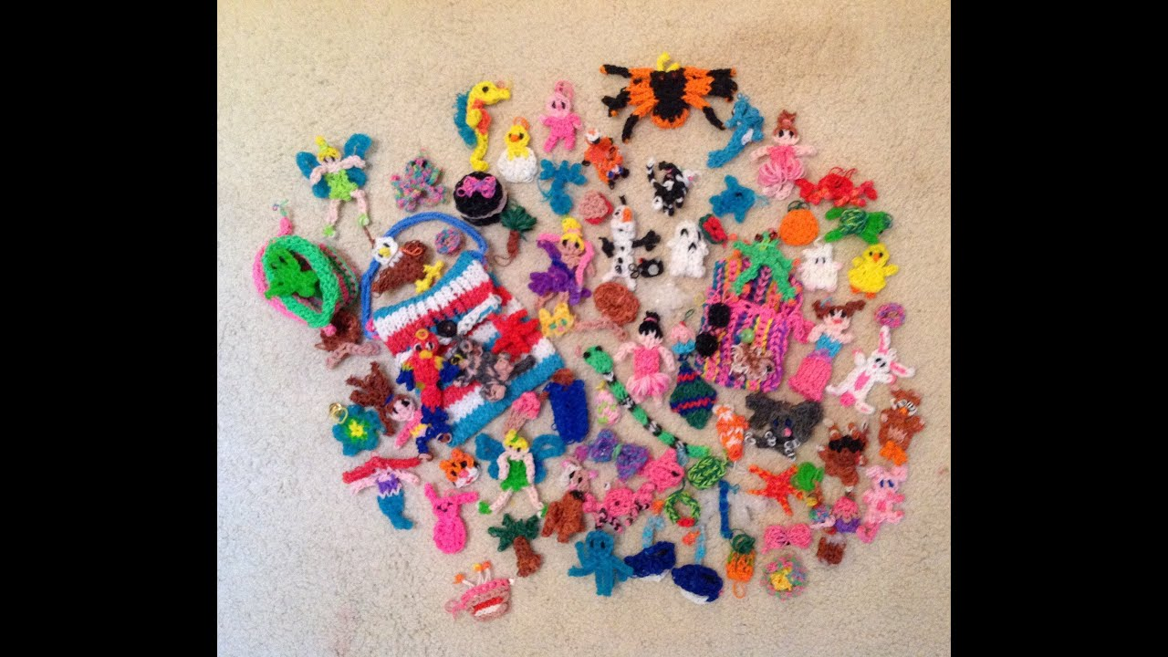 All My Rainbow Loom Things I Have Made Youtube