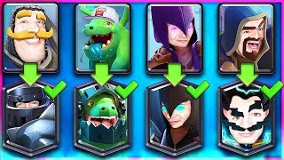 NORMAL + EVOLVED CARD CHALLENGE // CLASH ROYALE