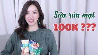 Review 2 Loại Sữa Rửa Mặt Bình Dân Cho Da Mụn Dưới 100k - Tracy Trinh