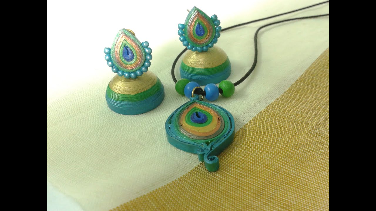 Paper earrings,Paper jewellery making,Paper quilling,Origami ...