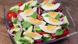 """Надоел обычный овощной салат? Тогда приготовьте вот такой, заправка просто """"пальчики оближешь""""!"""