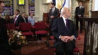 President Peres at  the Jewish community in New York at the Park Avenue Synagogue