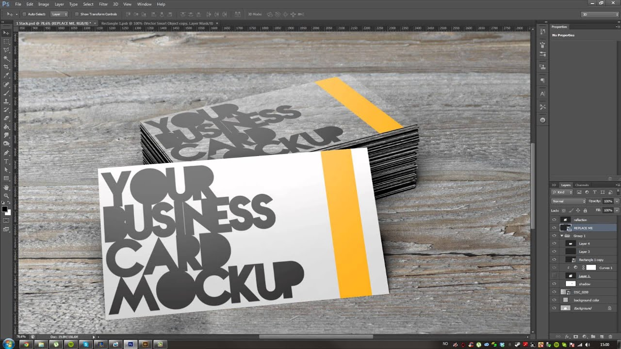 Free business card mockup psd files and smart objects youtube reheart