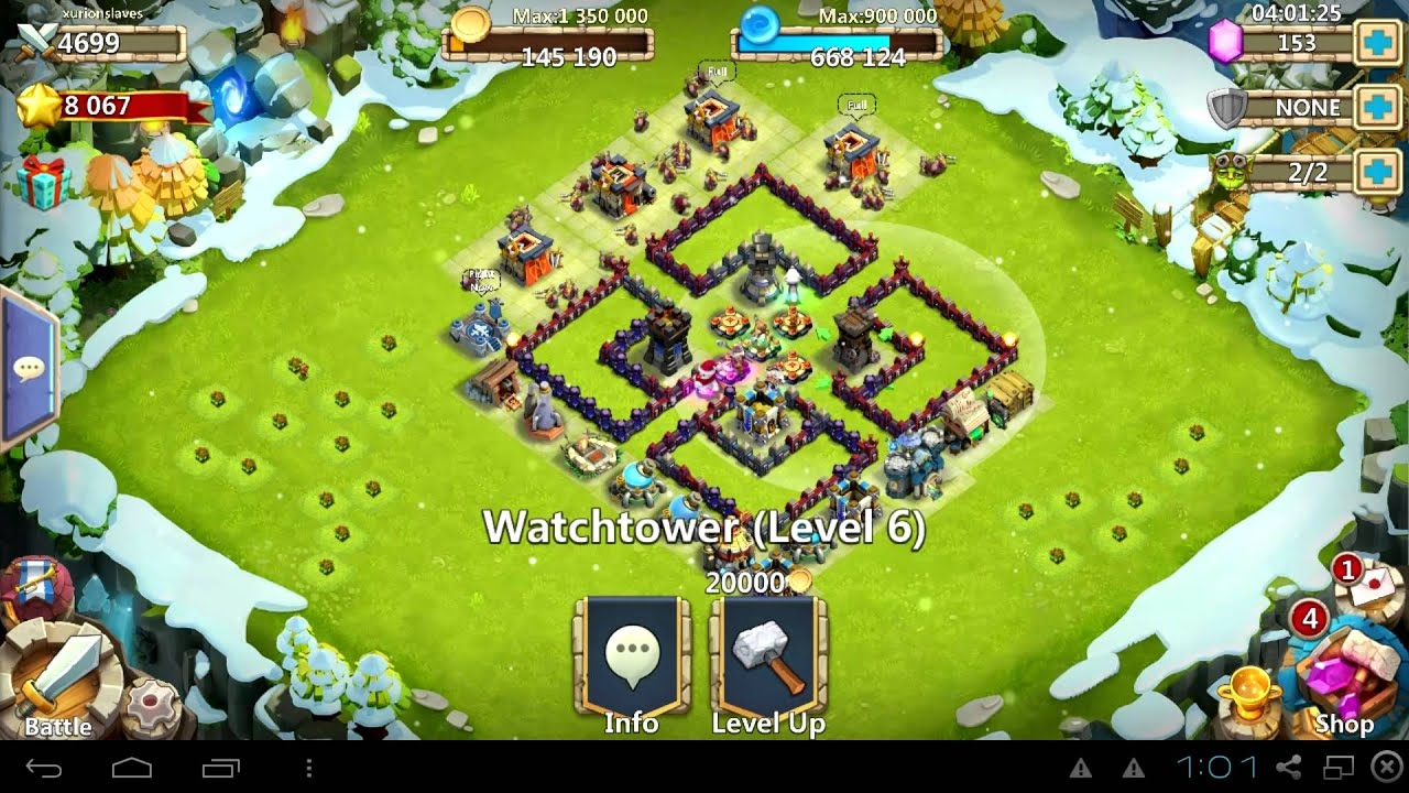 Wall Design For Town Hall 6 : Castle clash hbm series clover in depth breakdown