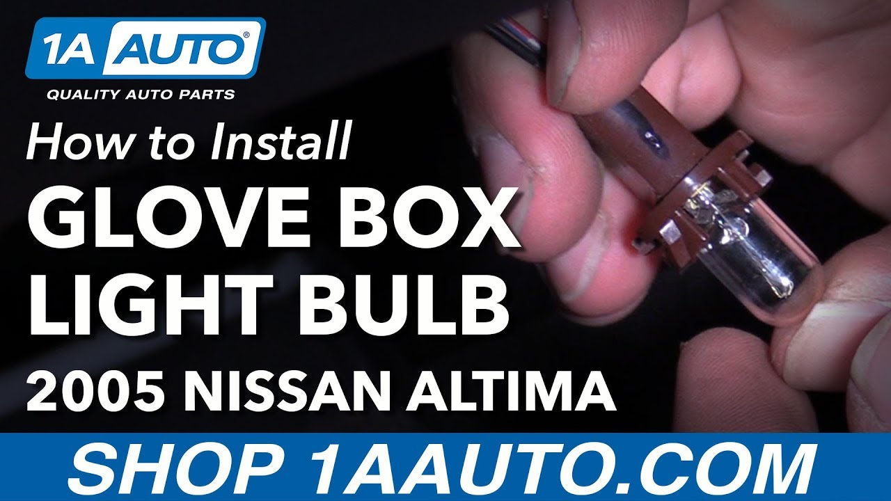 How to Install Replace Glove Box Light Bulb 2005 Nissan Altima - YouTube