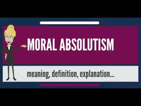 moral absolutism The crucible, by arthur miller, explores several complex and trans-historic topics,  many of which relate to the playwright's experiences during.