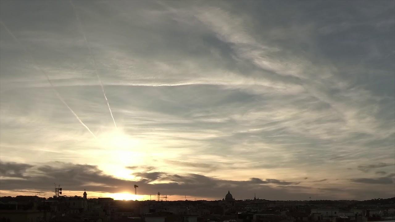 Time Lapse Di Roma Al Tramonto Dalla Terrazza De La Rinascente Di Via Del Tritone In 4k