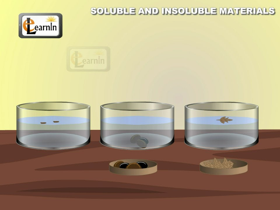 Soluble and insoluble materials - Experiment - Elementary Science - solubility chart example