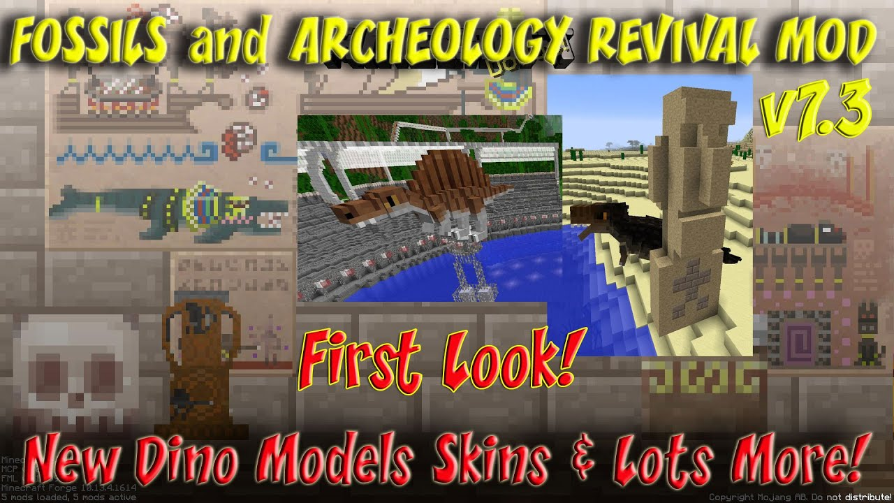 Fossils & Archeology 7 3 1st Look Showcase for Minecraft 1 7 10