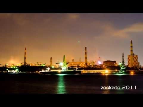 Night scene Kawasaki JFE Steel (HD)工場夜景