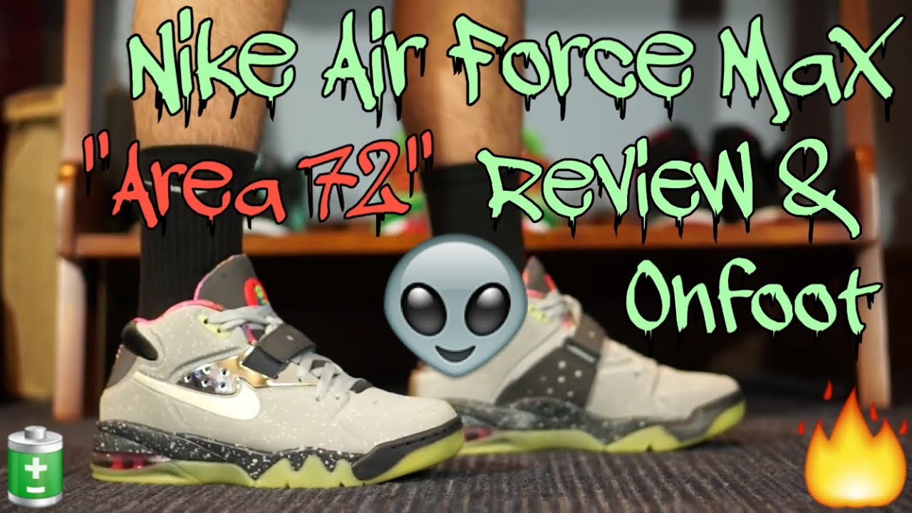 sports shoes c528f 8af96 Nike Air Force Max Area 72 Review+Onfoot