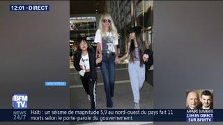 Laeticia Hallyday est de retour en France, pour la sortie de l'album posthume de Johnny Hallyday