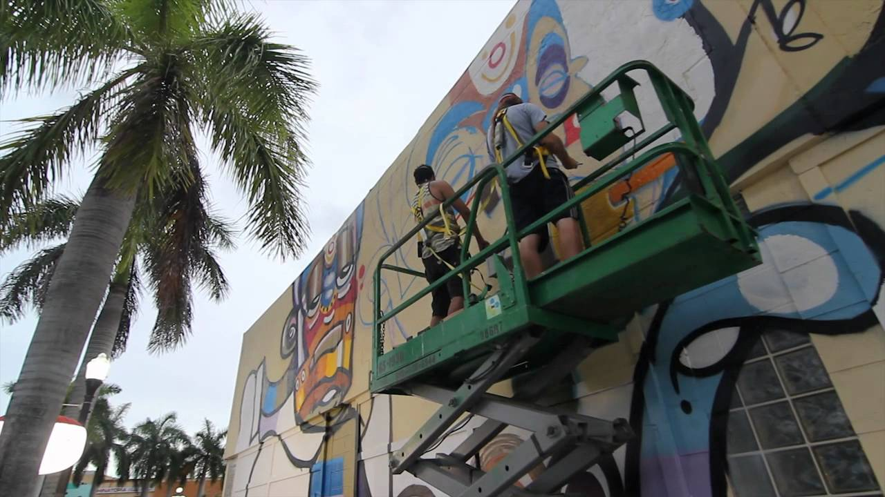 Downtown hollywood mural project presents lebo youtube for Downtown hollywood mural project