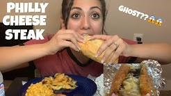 Cheese-Steak Mukbang!!! ⚠️ GHOST CAUGHT ON CAMERA ⚠️ *I ALMOST CRIED*
