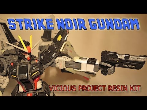 Review MG Gundam Strike Noir+Vicious Project Conversion kit [ITA][SUB ENG]