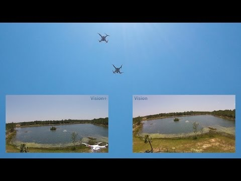 DJI Phantom 2 Vision vs. Vision+ (Plus) Flying Side-by-Side - An Awesome Comparison