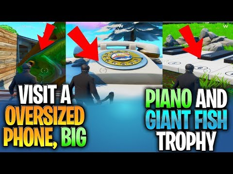 Visit an Oversized Phone, Big Piano, and Giant Dancing Fish Trophy - LOCATION WEEK 2 CHALLENGES