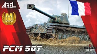 """FCM 50t """"first Frenchman"""" - gameplay with Ace Mastery - WoT Blitz"""