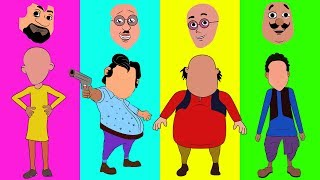 Learn Colors Motu Patlu Faces trolls Chingam Finger vs Ghasitaram Finger Family Nursery Rhymes