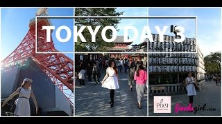 Tokyo Beauty Trip DAY 3 (Tokyo Tower, Asakusa Temple, Alice in Wonderland Cafe)