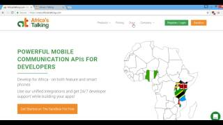 Creating a simple USSD application using Africa