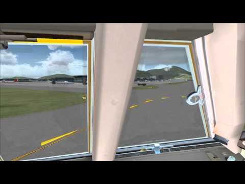 FSX  Hong Kong Flight Taking off from Hong Kong Too Heydar Aliyev International HD.