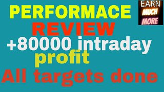 धमाकेदार स्टॉक्स की धमाकेदार परफॉरमेंस - All targets done - rs.80000 profit in intraday