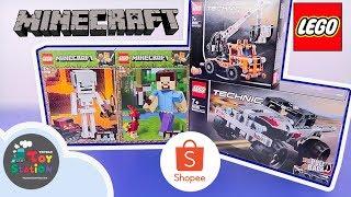 Lego Minecraft Steve, Skeleton khổng lồ và lần đầu ráp Lego Technic ToyStation 405