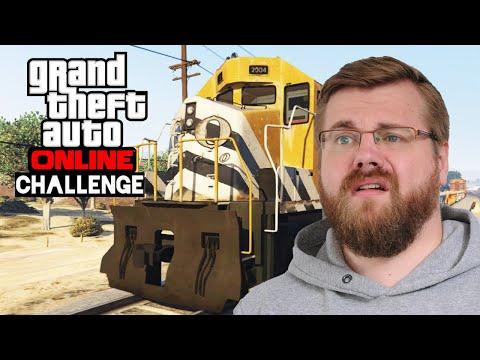 Challenge: Mit AUTO auf ZUG springen 🎮 Grand Theft Auto Online #174
