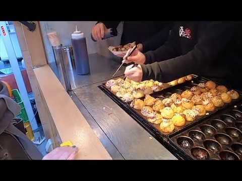 【大阪】【道頓堀】 インパクトがすごい 踊りだこ たこ焼き Delicious Takoyaki of Osaka street food - TAKOYAKI  Nanba
