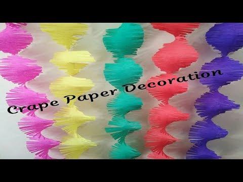 Crape paper Decoration Idea | Ganpati Decorations
