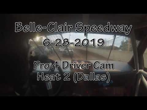 Belle Clair Speedway  Pro 4 Heat 2 Driver Cam