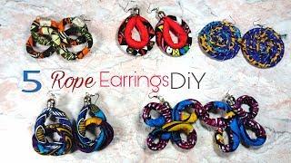 DIY African Rope Earrings 5 Ideas!- Ankara