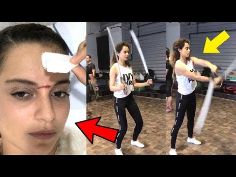 Kangana Ranaut UNBELIEVABLE Real Life Sword STUNT Video