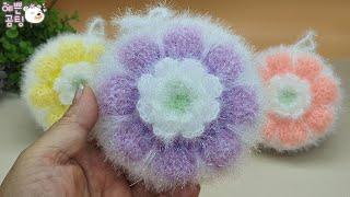 [수세미코바늘뜨개] 챠밍 호빵 수세미 뜨기 Croche…