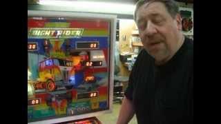 #117 Bally NIGHT RIDER Pinball Machine with old fashioned CHIMES - TNT Amusements