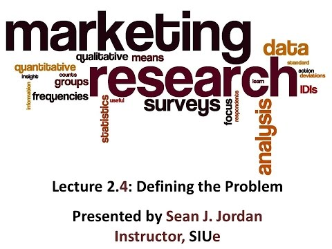 Marketing Research (Mkt377) Series 2 Video 4 (of 7)