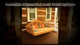Al Furniture Co. Marlboro 75 In. Red Cedar Swing Bed - 426c
