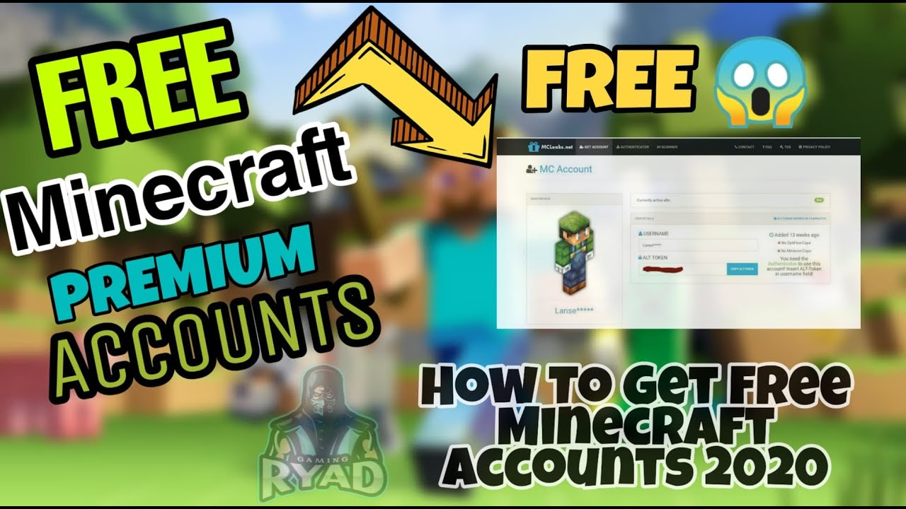 How To Get Free Minecraft Accounts Very Easy 2020 Free Account In Video Youtube