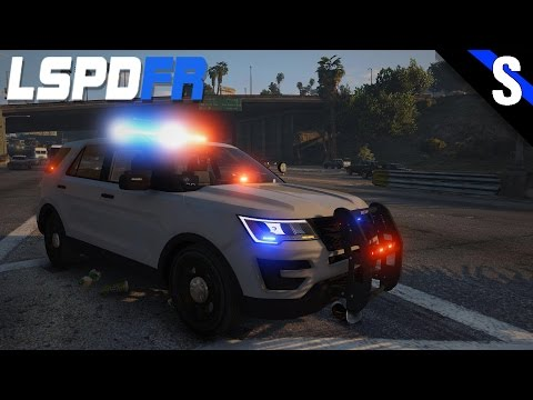 GTA V LSPDFR #119 Connecticut State Police 2016 Ford Explorer Interceptor Utility