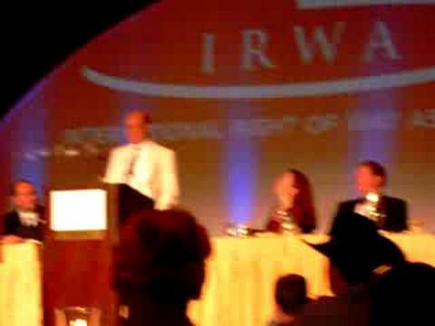 Dave Maturen receives the 2007 Frank C. Balfour Award