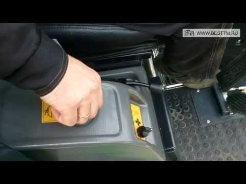 Органы управления вакуумной подметально-уборочной машиной ПУМ 50-21