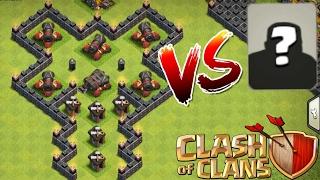 5 Cañones y un Cañón DOBLE!?, 30 Tropas vs los CAÑONES!!, Clash of Clans