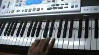 teri pyari pyari surat ko - on keyboard by mmv