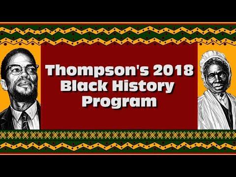 Thompson's 2018 Black History Program