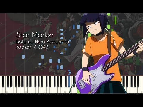 Star Marker - My Hero Academia Season 4 OP2 - Piano Arrangement [Synthesia]