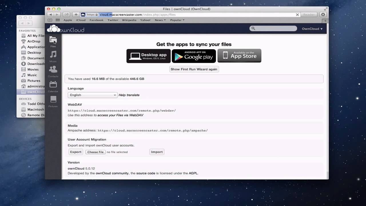 owncloud mac